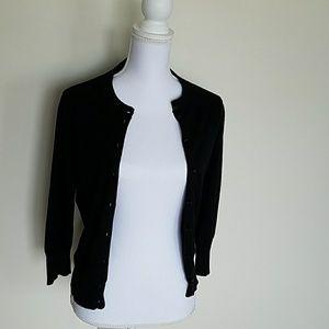 Black J. Crew 3/4 sleeves cardigan